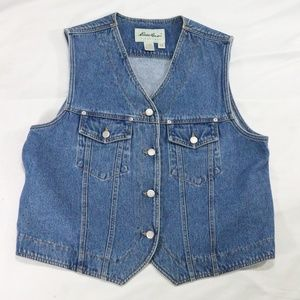 VTG EDDIE BAUER Blue Denim 4-Button Vest